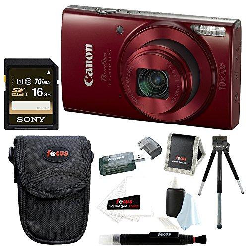 Canon PowerShot ELPH 180 20 MP Digital Camera (Silver) + 32GB Bundle