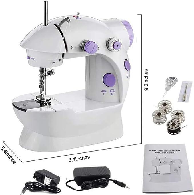 Mini máquina de coser a la casa, embalaje inglés, pequeña con ...