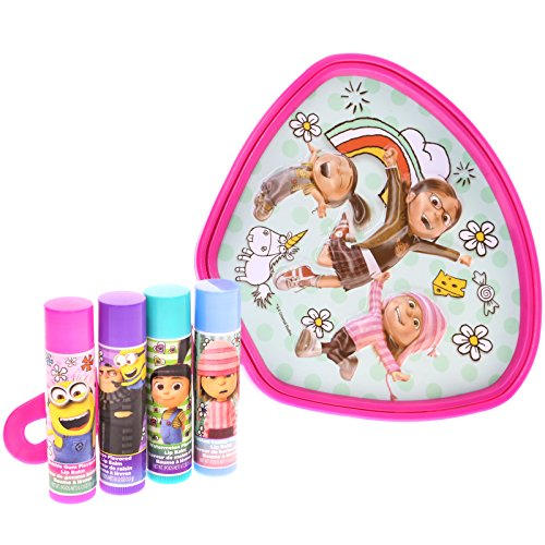 Townley Girl Despicable Me 3 Super Sparkly Lip Gloss Set for Girls, 4 Yummy Flavors with (The Little Girl From Despicable Me)