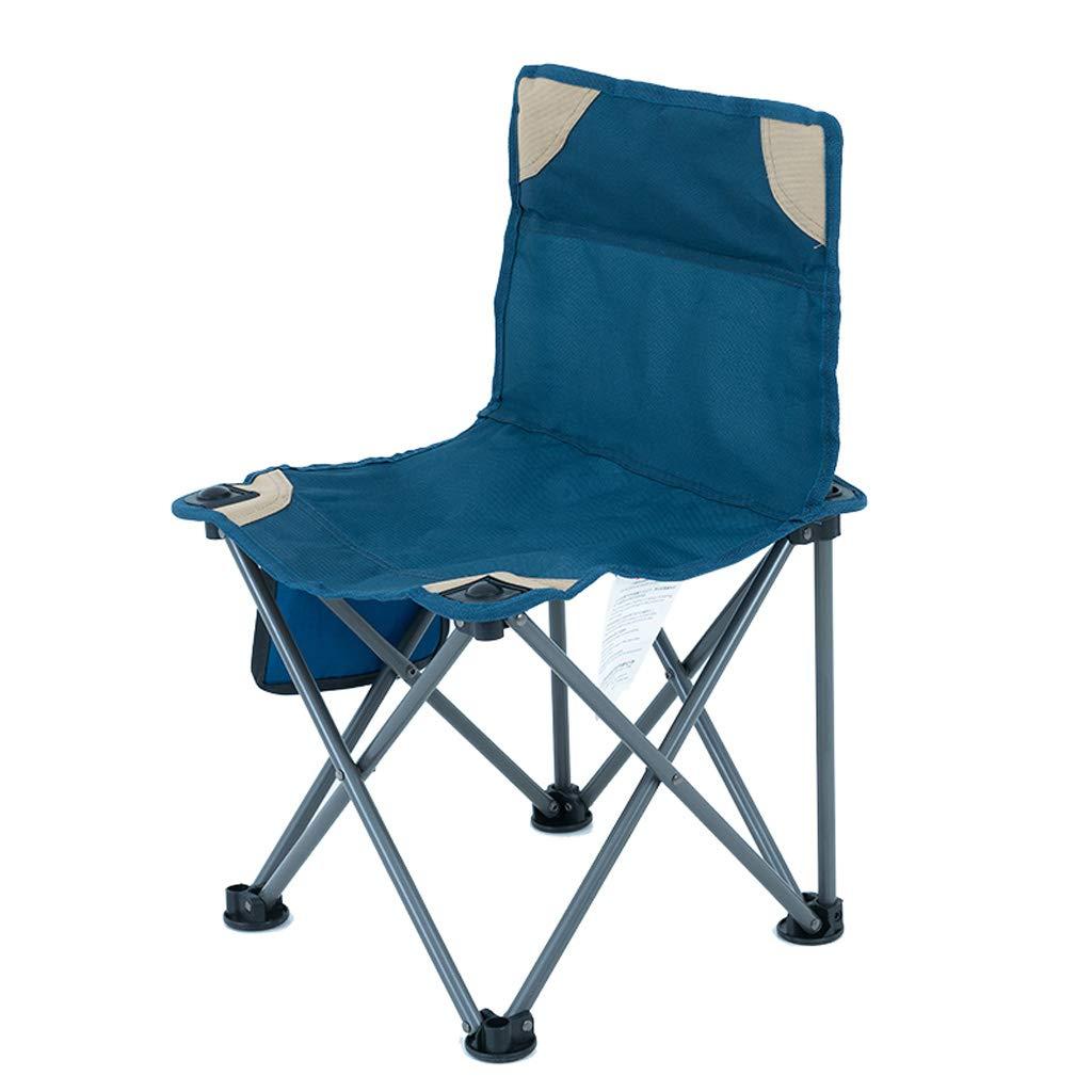 KTYXDE 椅子屋外折りたたみ椅子ポータブル釣りチェアバックビーチチェアライトチェアブルー36×57センチ 折りたたみ椅子   B07NHXBH63