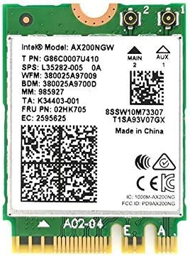 For Intel AX200NGW WIFI6 2.4Gbps Dual Band Wireless Network Card Bluetooth5.0
