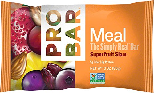 Pro Meal - PROBAR - Meal Bar - Superfruit Slam - Organic Oats, Nuts, Seeds, Gluten Free, Non-GMO Project Verified, Plant-Based Whole Food Ingredients, 8g Protein, 5g Fiber - Pack of 12 Bars