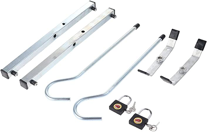 Vosarea un par Escalera Clamp Auto Baca Seguridad Candado Set (Plata): Amazon.es: Hogar