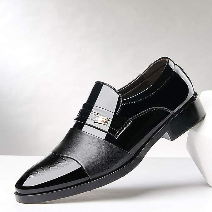 def5c9f7ba75f LuckyGirls Zapatillas de Cuero Trajes Negocio Patchwork Casual Moderno  Calzado Zapatos Zapatos de la Boda Noche Bambas de Las Hombres  Amazon.es   Deportes y ...