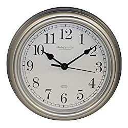 Sterling & Noble 8.75 Analog Wall Clock - Silver