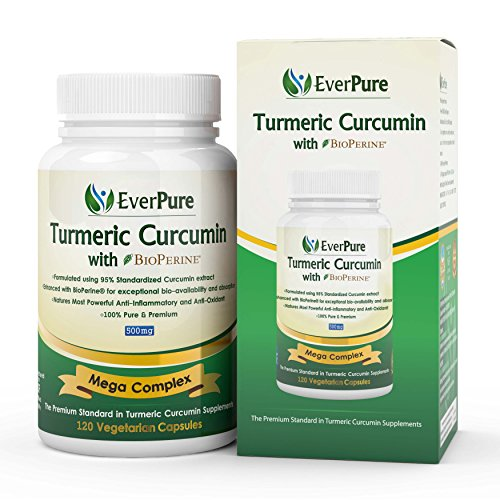 Premium Organic Turmeric (Curcumin) with Bioperine - Free Holistic Ebook - 120 Veggie Caps, 500mg, No Binders, No Fillers, No Additives. Great for Inflammation and Joint Pain - Safe for Vegans