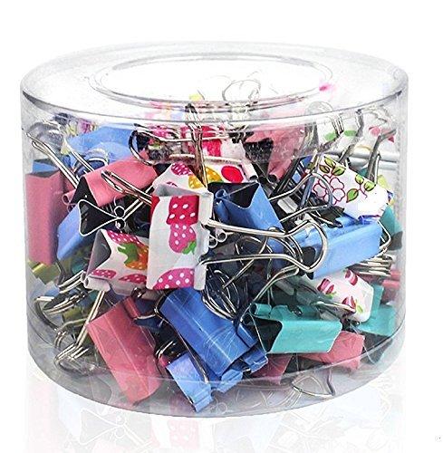 Emi Craft –  60 Ufficio assortiti organizzare Mini metallo Binder clip 25 mm –  Deko Ufficio