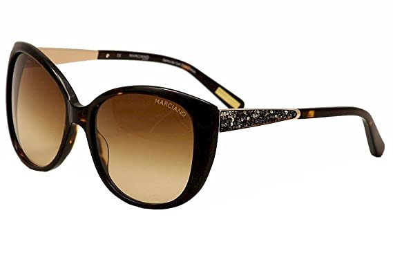 183d3703f7f Guess By Marciano Women s GM722 GM 722 TO-34 Tortoise Cat Eye Sunglasses  58mm