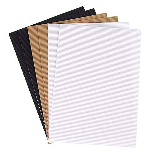 Corrugated Paper Sheets - Homeford FMC0000000GC010B Corrugated Paper Card-Stock Sheets, 11