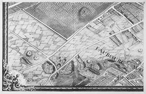 Posterazzi PDXMET17SMALL Paris 1739 Sectional map Poster Print by Michel-Etienne Turgot 12 x 18