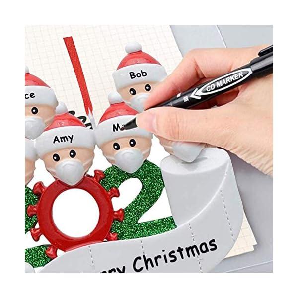 Afaneep Ornamenti Natalizi Decorazioni DIY 2 Persone con Nome Personalizzato Sopravvissuto Personalizzato, Ciondolo Albero di Natale, Famiglia di Decorazioni Natalizie Regali di Festa 4 spesavip