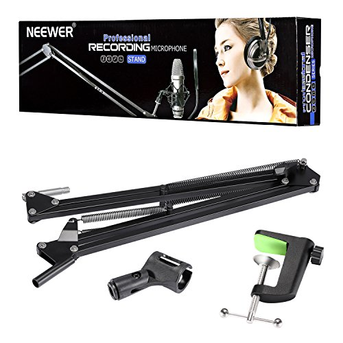 NEEWER Adjustable Microphone Suspension Boom Scissor Arm Stand, Compact Mic Stand Made of Durable Steel for Radio Broadcasting Studio, Voice-Over Sound Studio, Stages, and TV Stations - Image 1