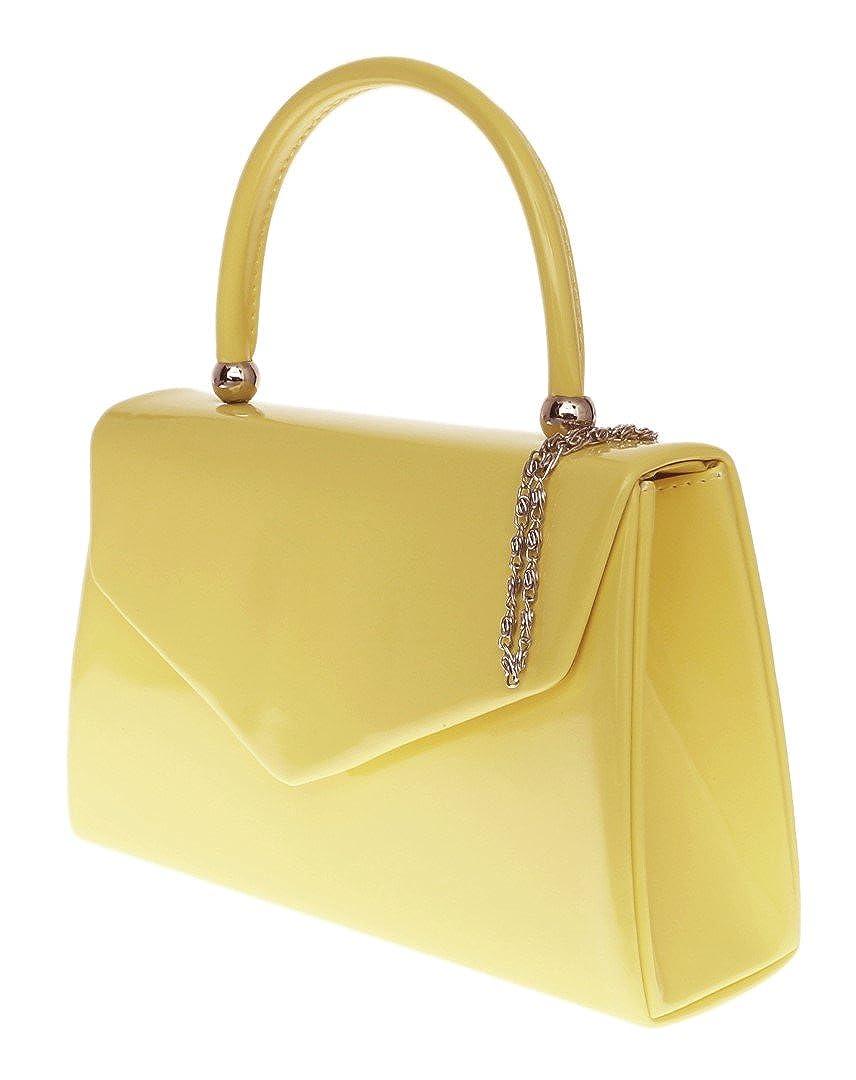 Bolso de mano Girly diseño de Nude, color amarillo, tamaño pequeño, diseño famoso, color Amarillo, talla W 23, H 15, D 7 cm: Amazon.es: Zapatos y ...