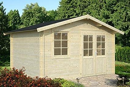 Casita de madera de abeto para jardín - Dimensiones: 10 m²; 380 x ...