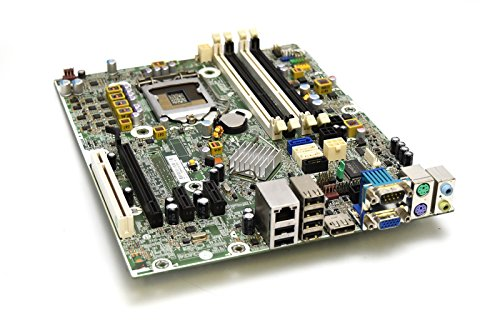 HP 615114-001 Genuine OEM Hewlett-Packard Compaq 6200 Pro Small Form Factor SFF/Micro Tower Motherboard Main System Logic Board Integrated Intel Chipset 611794-000 CPU Process Socket LGA - System Genuine Compaq Board