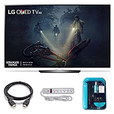 """2017 Model OLED65B7A Series B7 Class 65"""" 4K TV Bundle Includes, 4K HDMI Cable, Surge Protector, Cleaning Cloth"""