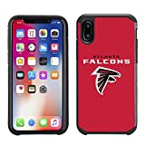 NFL Football Logo Pebble Grain Case for Apple iPhone X, Apple iPhone 10 Black Textured Back Cover on TPU Skin