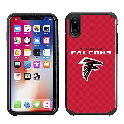 - Prime Brands Group Cell Phone Case for Apple iPhone X - NFL Licensed Atlanta Falcons Textured Solid Color