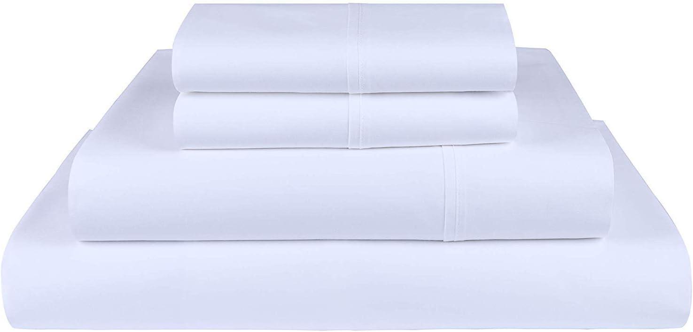 Zorificraft 1000-Thread-Count Hotel Authentic 1 Piece Flat Sheet King White Solid Premium 1000TC 100/% Egyptian Cotton