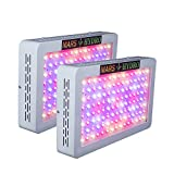 MarsHydro 2 PCS MarsHydro600W LED Grow Light 278W True Watt Panel Full Spectrum 5w Leds for Plants Vegetative Flowering Less Heat Bigger Yields