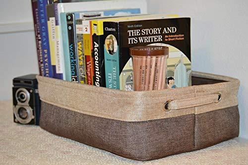 Rectangular Fabric Storage Bin Organizer Basket with Handles for Clothes Storage,Toy Organizer,Pet Toy Storing,Kids Basket Baby Bin