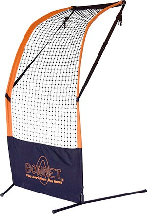 BowNet Flat Top Baseball/Softball Pitcher Protector 6'X6' Portable Net - BowFT by Bownet