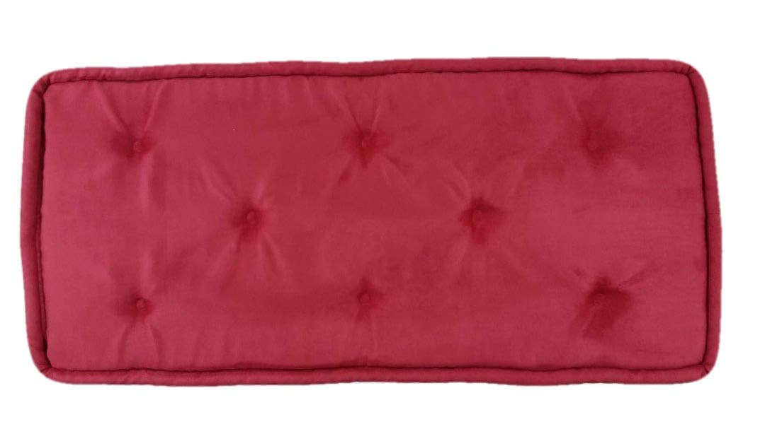 Red Piano Bench Cushion Pad Tufted 14-1//2 x 35