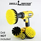Nylon Power Brush Tile and Grout Bathroom Cleaning Scrub Brush Kit