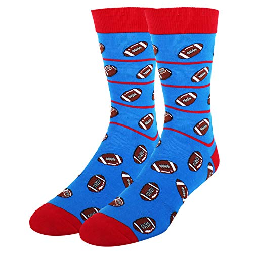 Mens Sports Dress Socks Novelty Cool Rugby Athletic Crazy Colorful Stripes Crew