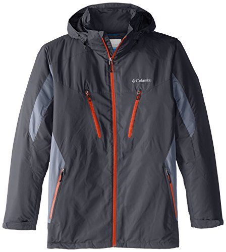 Columbia Men's Big & Tall Antimony IV Jacket, Graphite/Trade Winds Grey, Large/Tall