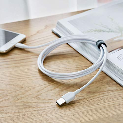 Lightning Cable (6ft) Anker Powerline II Lightning Cable, Apple MFi Certified iPhone Charger, Ultra Durable for iPhone Xs/XS Max/XR/X / 8/8 Plus / 7/7 Plus / 6/6 Plus/iPad(White) by Anker (Image #5)