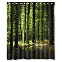 """Luxuriant Green forest Shower Curtain Measure 60""""(w)X72""""(h)"""