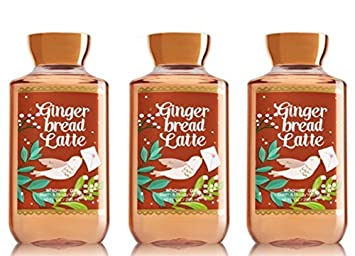 x3 Bath and Body Works Gingerbread Latte Shower Gel Wash 10 Ounce Each