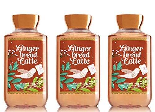 x3 Bath and Body Works Gingerbread Latte Shower Gel Wash 10 Ounce Each ()