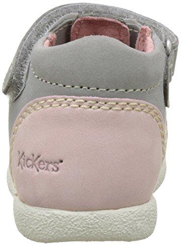 Kickers Babysun - Patucos de cuero Bebé - niña Gris (Gris Clair Corail)