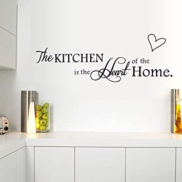Wall Sticker Kitchen Heart Letter PVC Stickers Removable Home Decor Walls Art