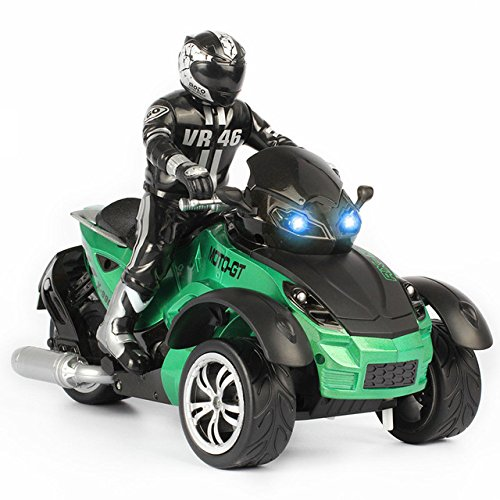 Toy, Play, Game, 1/10 RC Car High-speed Racing 3 Wheeled ATV Ready-to-Run Motorcycle Tricycle Off-Road Vehicle Toy Kids Children Christmas Gift, Kids, ()