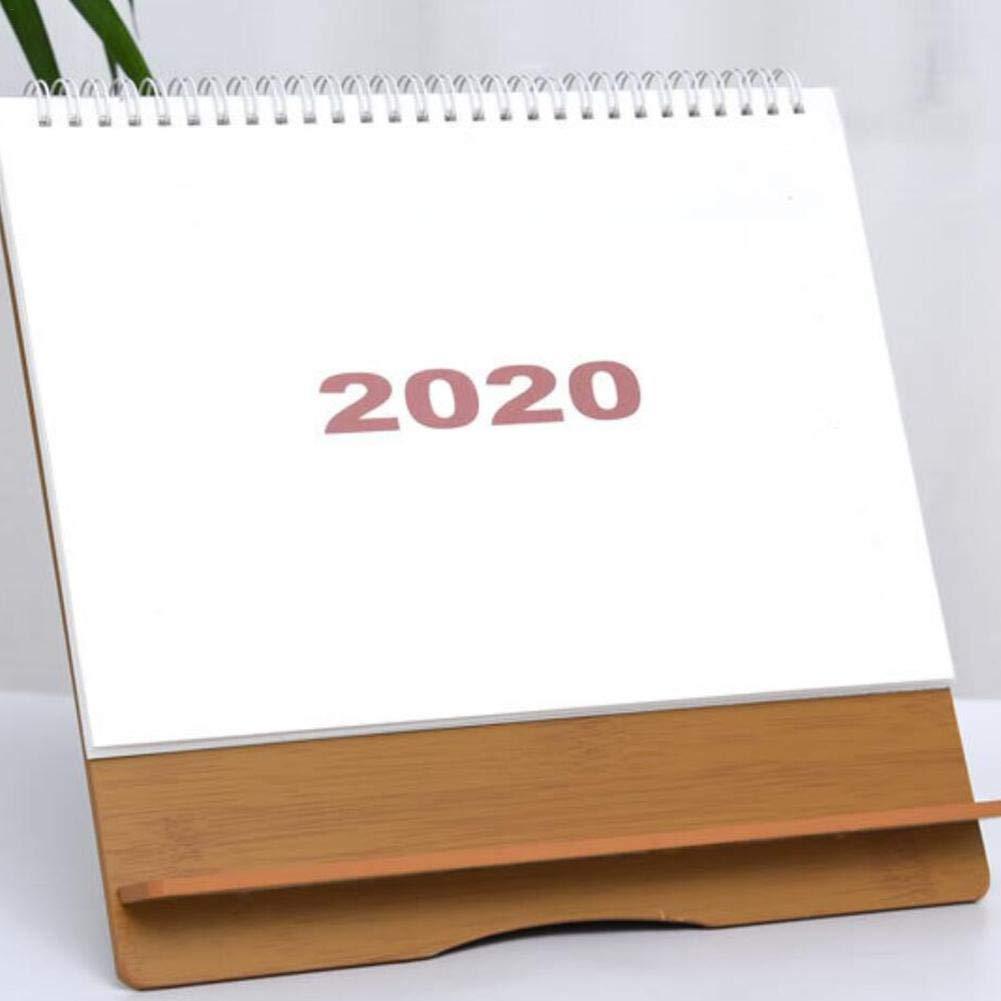 RecoverLOVE Calendario da scrivania Permanente Impermeabile 2019-2020 Scrivania mensile Calendario da Tavolo Semplice Alzati Calendario da Tavolo Calendario da Tavolo per LUfficio Domestico