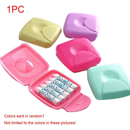 YOTHG Travel Outdoor Portable Women Tampons Storage Box Holder Color Random by YOTHG (Image #1)
