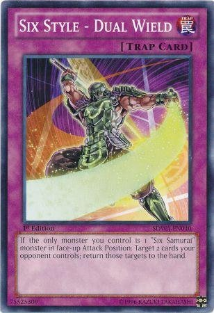 Yu-Gi-Oh! - Six Style - Dual Wield (SDWA-EN040) - Structure Deck: Samurai Warlords - 1st Edition - Common