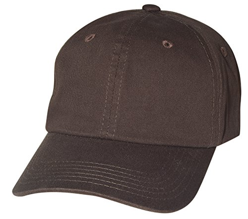 BRAND NEW 2016 Classic Plain Baseball Cap Unisex Cotton Hat For Men & Women Adjustable & Unstructured For Max Comfort Low Profile Polo Style  Unique & Timeless Clothing Accessories By Top Level, Dark Brown, One Size](Womens Brown Baseball Caps)