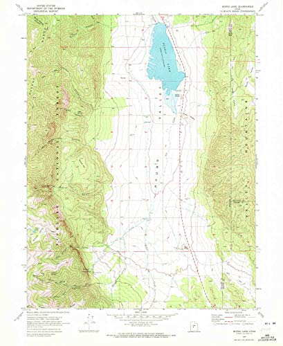 YellowMaps Scipio Lake UT topo map, 1:24000 Scale, 7.5 X 7.5 Minute, Historical, 1969, Updated 1972, 26.9 x 22 in - Tyvek (Grove Maple Rock Red)