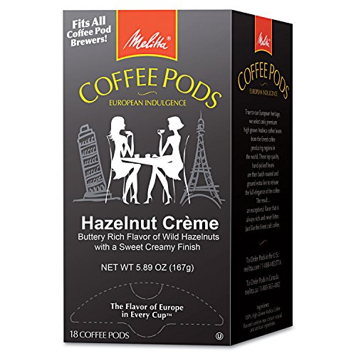 Melitta 75410 Coffee Pods, Hazelnut Cream (Hazelnut), 18 Pods/Box ()