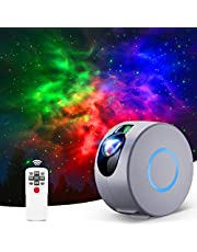 Star Light, Kids Star Night Light Projector with Remote Control, LED Nebula Galaxy Projector for Baby Adults Bedroom/Home Theater/Game Rooms/Room Decor/Party/Night Light Ambiance (Grey)