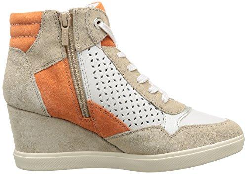 Off Multicolore White A Baskets Orange D femme mode Geox Eleni 0YRqwnf