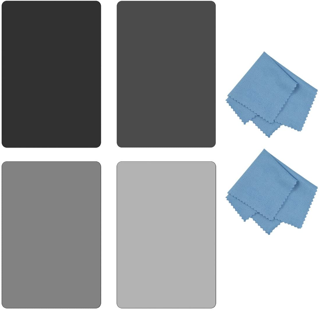 SIOTI Square Color Filter,Color Square Filter Kit 4X6 100X150mm with Gradient Red /& Gradient Blue /& Gradient Orange for Cokin Z Lee Hitech Sioti Holder G.Color A