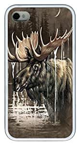 Moose Forest TPU Case Cover for iphone 5c White