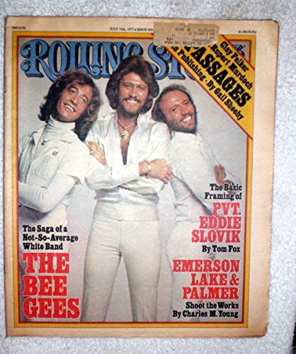 Barry, Maurice & Robin Gibb - The Bee Gees - Rolling Stone Magazine - #243 - July 14, 1977 - Rupert Murdoch, Emerson Lake & Palmer Articles
