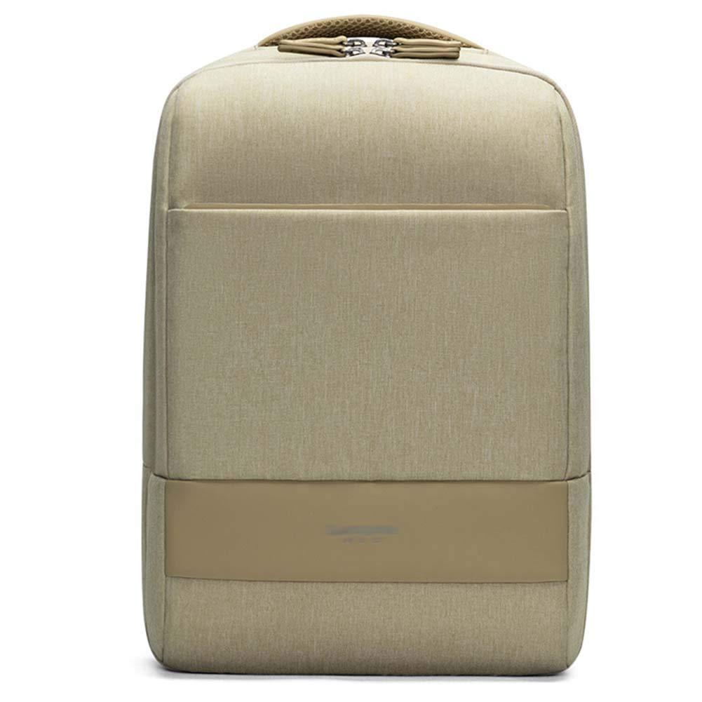 メンズバックパックビジネスバッグレジャーバッグスクールバッグラップトップバッグトラベルバッグ、野生の大容量マルチレイヤー7色使用可能30.5 * 14 * 42.5cm CONGMING-bao (Color : カーキ) B07KNQ99FR
