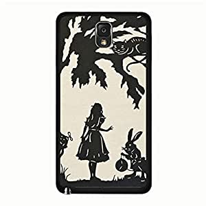 Samsung Galaxy Note 3 N9005 Phone Case Nice Phone Shell Cover Alice In Wonderland Quotes Stylish Design Cover for Samsung Galaxy Note 3 N9005 Disney Cartoon Alice In Wonderland